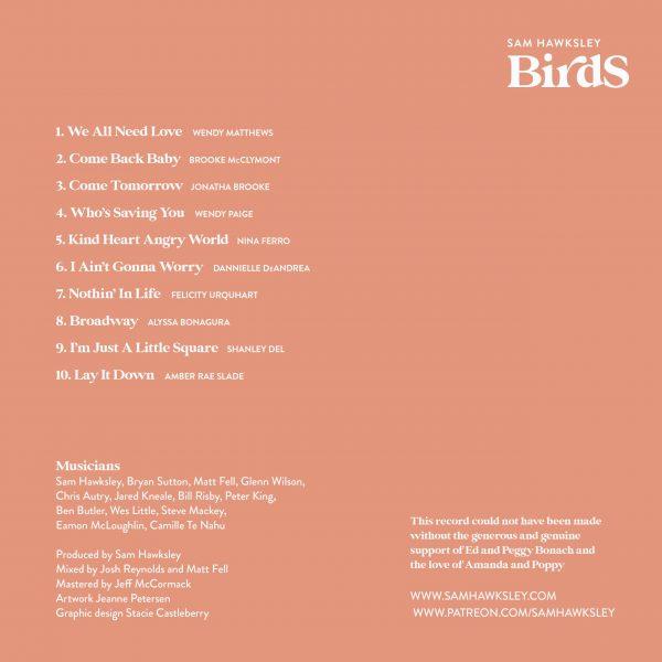 birds album cover back